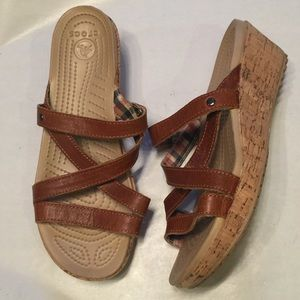 Crocs sandals like new condition